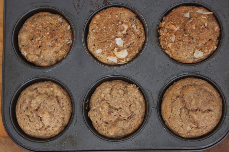 The easiest muffin mix ever. These banana and cinnamon muffins are part of the bake mix range. They use vegan, organic and quality, whole ingredients.
