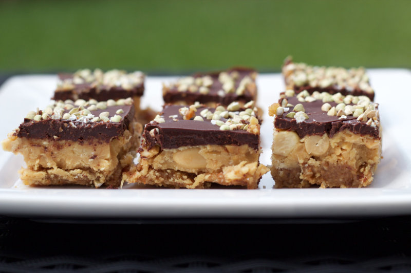 Chocolate peanut butter slice combines two of my favourite foods - chocolate and peanut butter. Three separate layers of nuts, peanut butter and chocolate.
