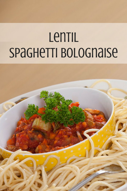Lentil spaghetti bolognaise is a delicious alternative to traditional meat based spaghetti dishes with the added nutritional benefits of lentils.