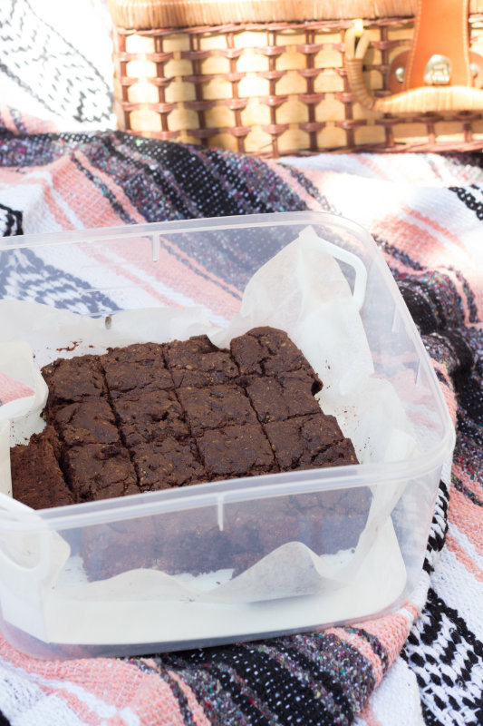 These egg free brownies are just as chocolatey and rich and moist as brownies with eggs. They are also gluten free, nut free and dairy free.