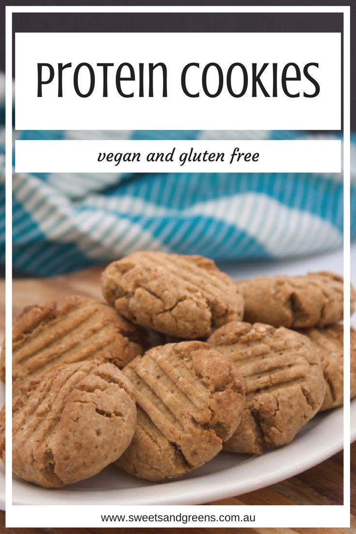 These vegan, gluten free, vanilla protein cookies take only half an hour to make and use juts one bowl. Your protein hit in a cookie.