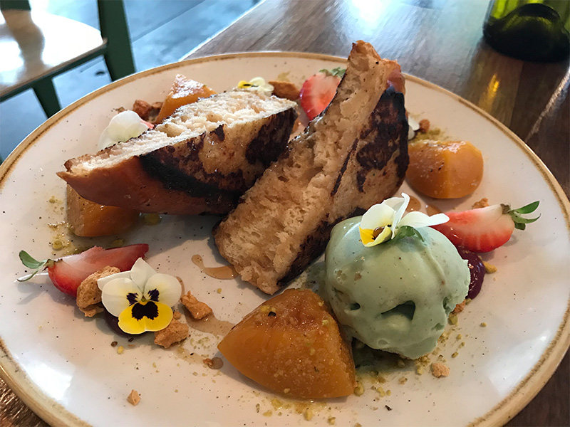 French toast with pistachio ice cream. Photo taken at Sister of Soul St Kilda