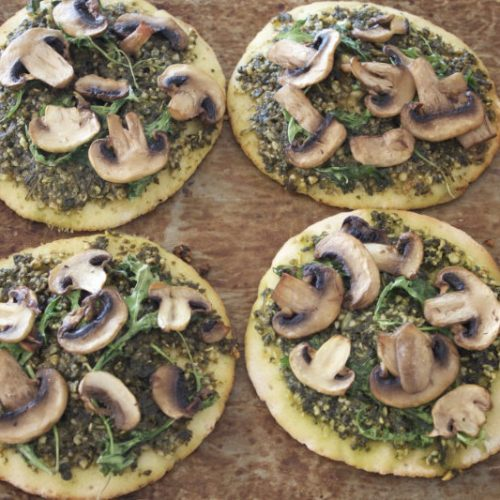 vegan recipes food topping basil pesto spaghetti pizzas crackers by Sweets and Greens