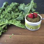 vegan recipes slushie watermelon kale strawberries drink juice by Sweets and Greens