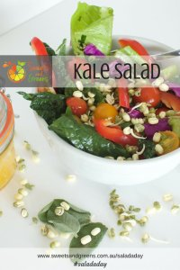 Kale Salad with Orange and Ginger Dressing