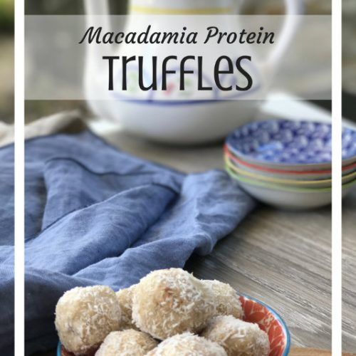 vegan protein balls macadamia truffles coconut recipe dessert food snacks healthy quick simple easy by Sweets and Greens
