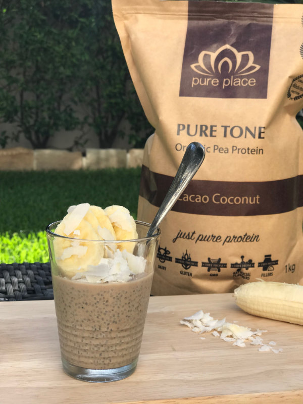 vegan recipe pudding food bananas chia pure cacao coconut healthy easy yummy by Sweets and Greens