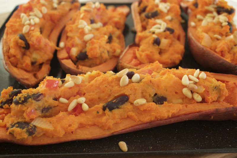 Stuffed Sweet Potato Skins