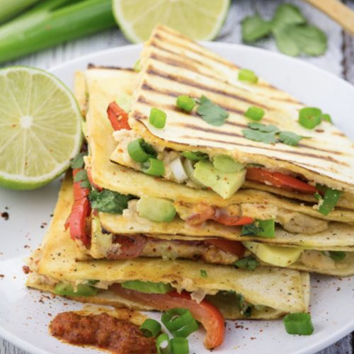 Vegan cheese quesadilla