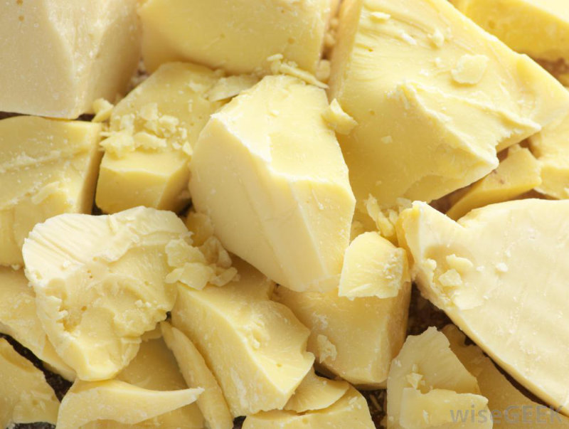 Blocks of cocoa butter