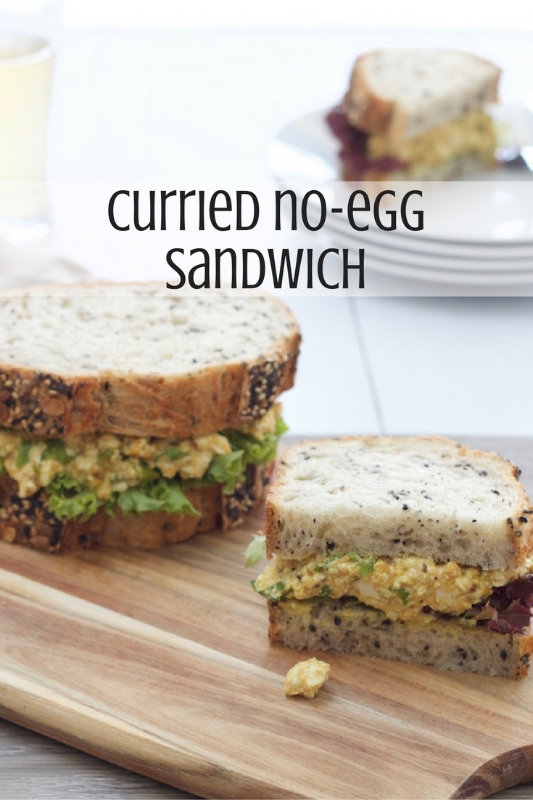 Curried No Egg Sandwich