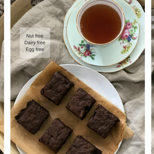 vegan recipe food healthy best sweet dairyfree nutfree eggfree chocolate brownies by Sweets and Greens