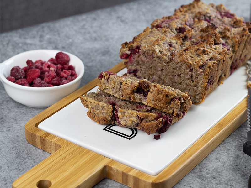 Raspberry and Coconut Chia Loaf